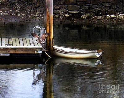 Digital Art - Rowboat by Dale   Ford
