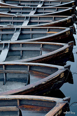 Rowboats Print by Robert Lacy