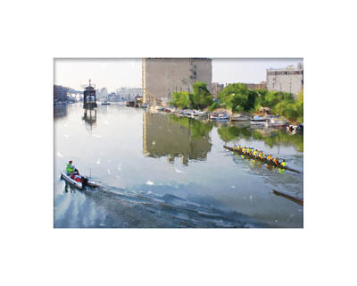 Rowers On The Milwaukee River Art Print