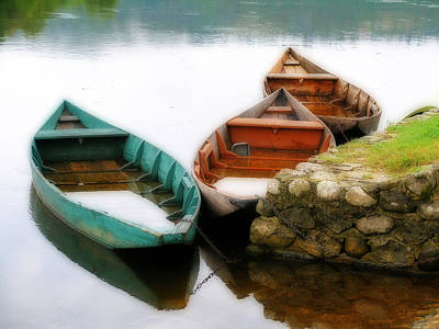 Photograph - Rowing Boats Out Of Season by Rod Jones