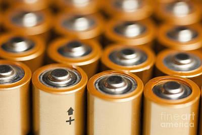 Rows Of Aa Batteries Art Print by Bryan Mullennix