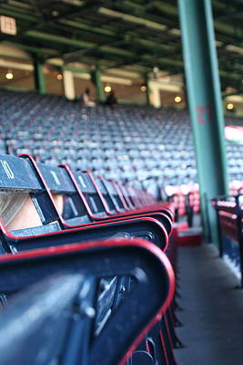 Rows Of Empty Field Box Seats At Fenway Boston Art Print by Loud Waterfall Photography Chelsea Sullens
