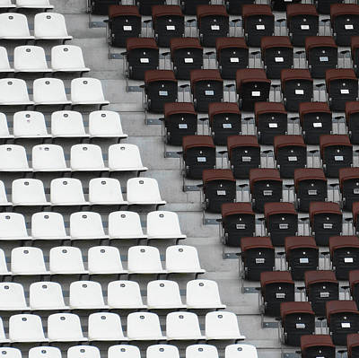 Rows Of Seats In Different Colors Art Print by Befo