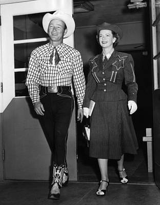 Roy Rogers, And His Wife Dale Evans Art Print by Everett