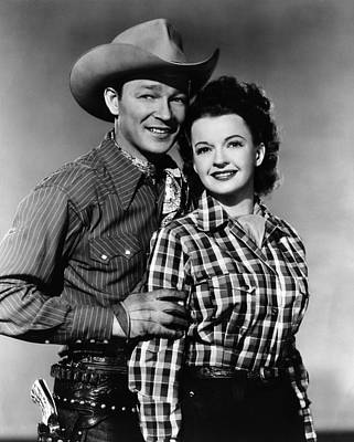 Ev-in Photograph - Roy Rogers, Dale Evans, Ca. 1950 by Everett