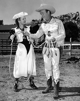 Roy Rogers Right, And His Wife Dale Art Print by Everett
