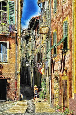 Photograph - Roya Valley Breil Sur Roya Along The Narrow Streets by Enrico Pelos