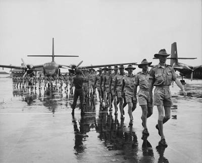 Royal Australian Air Force Arrives Print by Everett