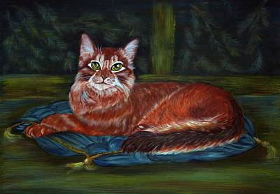 Royal Cat Art Print by Elena Melnikova
