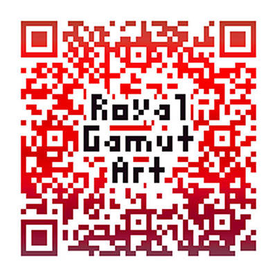 Digital Art - Royal Gamut Art - Qr Code by Tom Roderick