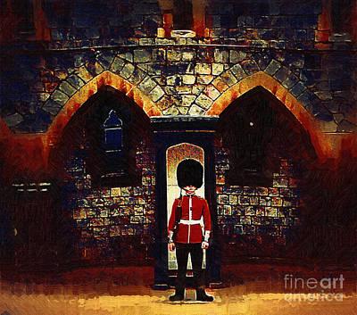 Photograph - Royal Guard At Castle Entrance by Pete Klinger