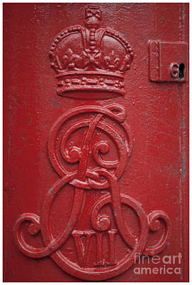 Red Abstract Photograph - Royal Mailbox by Heiko Koehrer-Wagner