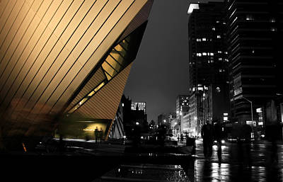 Photograph - Royal Ontario Museum Night by Andrew Fare