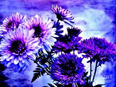 Wrap Digital Art - Royal Purple Pretties by Marsha Heiken