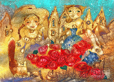 Royal Mixed Media - Royal Roses by Svetlana and Sabir Gadghievs