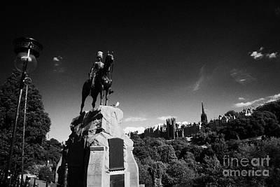Royal Scots Greys Boer War Monument In Princes Street Gardens Edinburgh Scotland Uk United Kingdom Art Print by Joe Fox