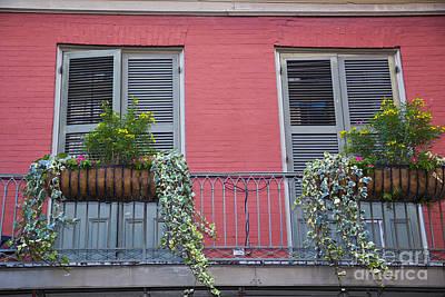 Leda Photograph - Royal Street Balcony by Leslie Leda