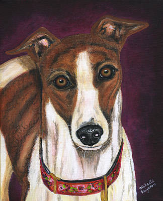 Greyhound Painting - Royalty - Greyhound Painting by Michelle Wrighton