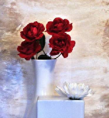Digital Touch Photograph - Royalty Roses by Marsha Heiken