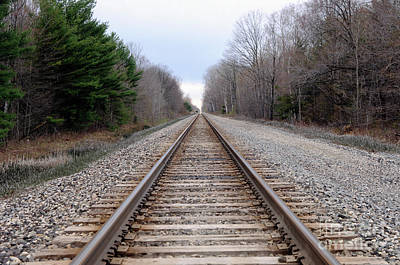 Photograph - Rr Tracks by Ronald Grogan