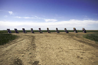 Art Print featuring the photograph Rt 66 Cadillac Ranch  by Paul Plaine