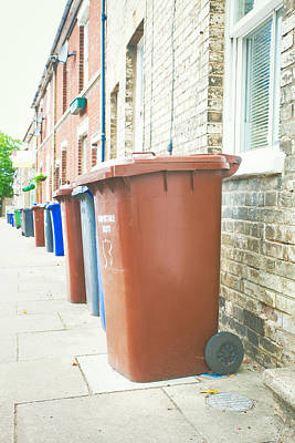 Rubbish Bins Art Print by Tom Gowanlock
