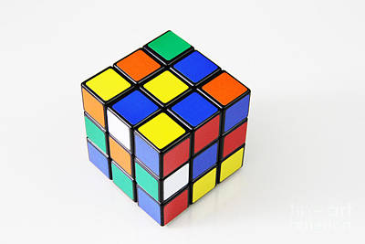 Rubiks Cube Art Print by Photo Researchers, Inc.