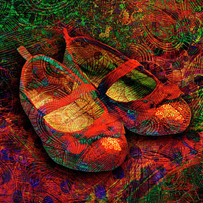 Digital Art - Ruby Slippers by Barbara Berney