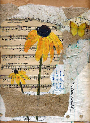 Music Score Mixed Media - Rudbeckia by Sorana Tarmu
