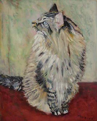 Rudi  Posing Original by Bonnie Wilber