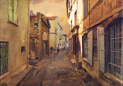 Briex Painting - Rue Du Grand Prieure Arles by Nop Briex