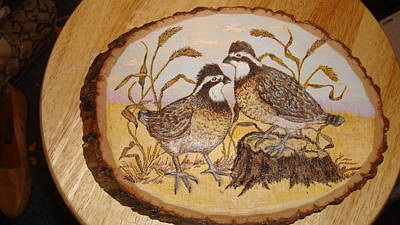 Pyrography - Ruffed Grouse Chat by Dakota Sage