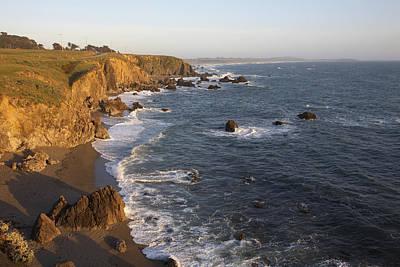 Sonoma Coast Photograph - Rugged Rocky Cliffs Along Sonoma Coast by Jason Todd