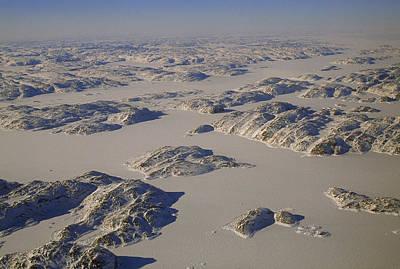 Baffin Island Photograph - Rugged Rocky Hills Line The Edge by Gordon Wiltsie