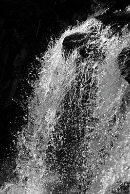 Photograph - Rugged Waterfall Plunge Silhouette by John Stephens
