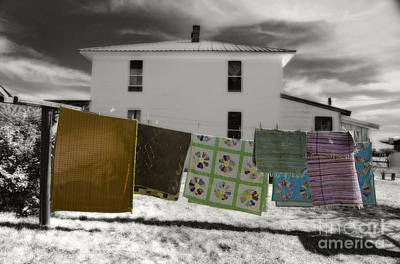 Dry Felt Photograph - Rugs And Quilts On A Clothesline by Kevin Felts