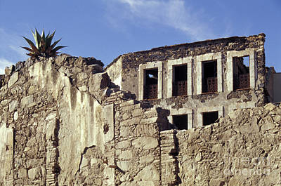Photograph - Ruined Wall Real De Catorce Mexico by John  Mitchell