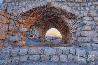 Ancient Apartments Photograph - Ruins At Sunset by Noam Armonn