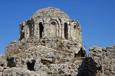 Photograph - Ruins Of Byzantine Basilica Alanya Castle Turkey by Matthias Hauser