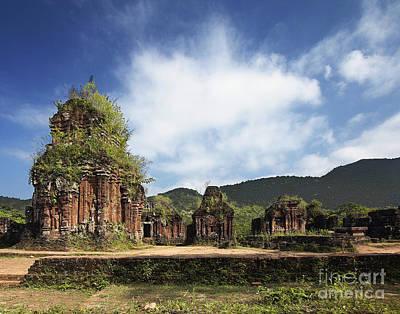 Ruins Of Hindu Temples Art Print by Skip Nall