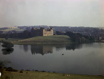 Ruins Of Linlithgow Palace Reflect Print by B. Anthony Stewart