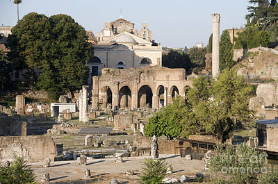 Ruins. Roman Forum Art Print by Bernard Jaubert