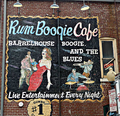 Rum Boogie Cafe Art Print