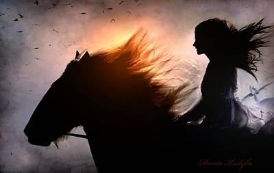 Shire Horses Digital Art - Run Against The Time by Dorota Kudyba