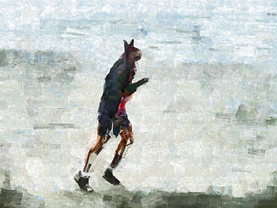 Jogging Digital Art - Run Rabbit Run by Steve Taylor