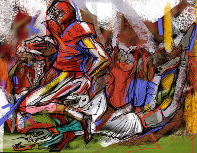 Painting - Run The Football by John Jr Gholson