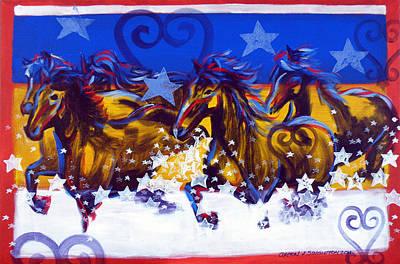 Wall Art - Painting - Run Through The Stars by Clayton Singleton
