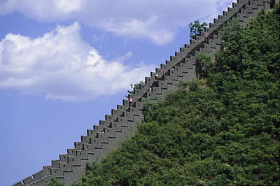 Footrace Photograph - Runners In The Great Wall Marathon by Michael S. Yamashita