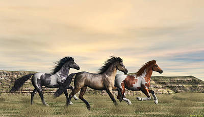 Digital Art - Running Free by Walter Colvin