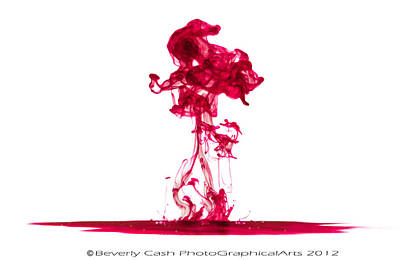 Photograph - Running Ink Drop by Beverly Cash